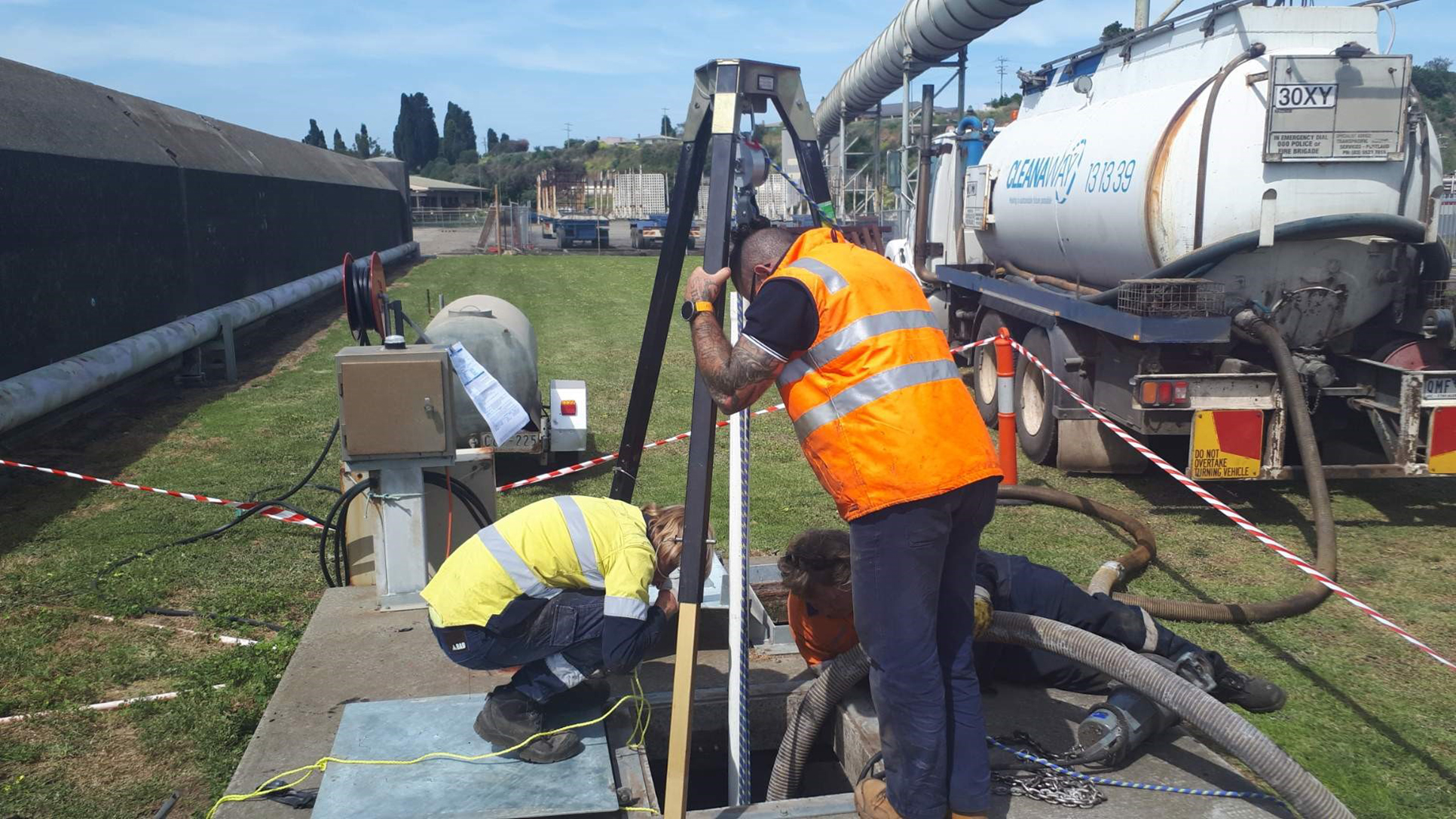 Smarter Safer Solutions undertake confined space work at the Port of Portland